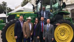 Senator Steve Bradford (D - Gardena) joins fellow legislatures for a picture during the 2017 Agricultural Day at the State Capitol on March 22.