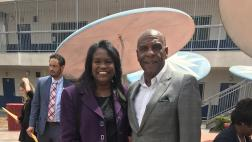 Senator Bradford with LAUSD Superintendent Michelle King