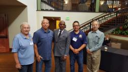 Senator Bradford stands with California Labor Federation members after speaking at the 2017 Cal-Labor Federation Legislative Conference at the Sheraton Grand Hotel on April 24th.