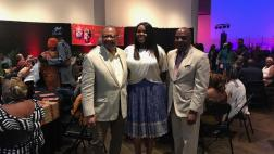 Senator Bradford with Assemblymen Reggie Jones-Sawyer and Compton Mayor Aja Brown