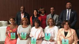 Senator Bradford and Congresswoman Maxine Waters attend the National Congress of Black Woman Luncheon