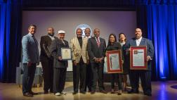 Senator Bradford presents resolution at Rice Diversity & Equity Award Ceremony
